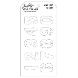 THS020 Stampers Anonymous Tim Holtz Layering Stencil - Numbered